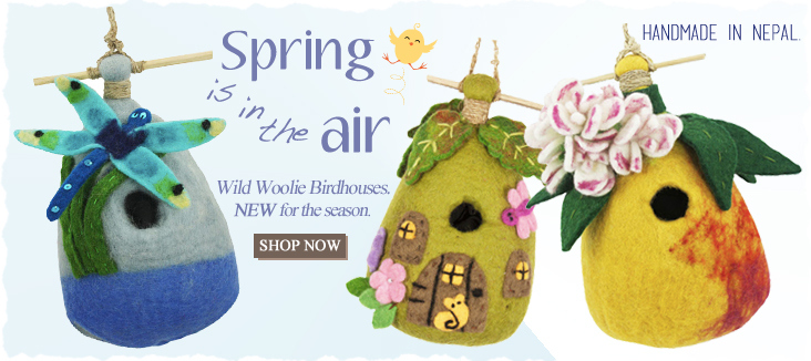 Fair Trade Wool Felt Birdhouses